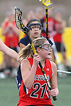 Santa Barbara, CA 02/18/12 - Lindsay Brinker (Georgia #21) in action during the Georgia-Michigan matchup at the 2012 Santa Barbara Shootout.  Georgia defeated Michigan 12-10.