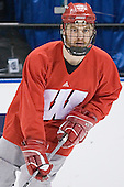 Ryan MacMurchy - The University of Wisconsin Badgers practiced on Friday, April 7, 2006, at the Bradley Center in Milwaukee, Wisconsin.  The following evening the Badgers defeated Boston College 2-1 to win the Title.