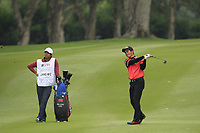 Liang Wenchong (CHN) on the 18th fairway during Round 3 of the UBS Hong Kong Open, at Hong Kong golf club, Fanling, Hong Kong. 25/11/2017<br /> Picture: Golffile | Thos Caffrey<br /> <br /> <br /> All photo usage must carry mandatory copyright credit     (© Golffile | Thos Caffrey)