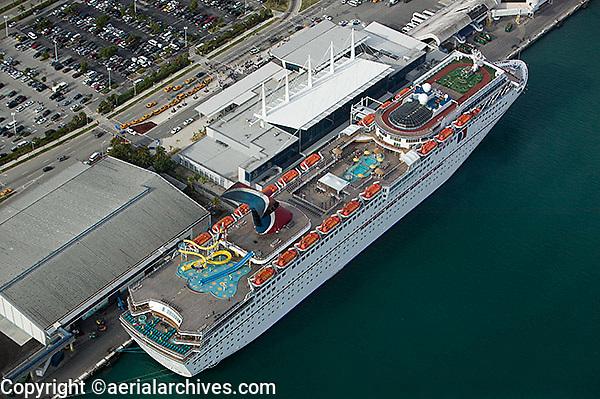Aerial Photograph Miami Florida Aerial Archives San Francisco - Cruise ship port in miami