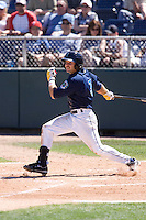 July 25, 2010: Everett AquaSox's Robert Anston (3) at-bat during a Northwest League game against the Salem-Keizer Volcanoes at Everett Memorial Stadium in Everett, Washington.
