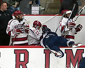 Phil Zielonka (Harvard - 72), Sean Malone (Harvard - 17), Billy Sweezey (Yale - 6), Alexander Kerfoot (Harvard - 14) - The Harvard University Crimson defeated the Yale University Bulldogs 6-4 in the opening game of their ECAC quarterfinal series on Friday, March 10, 2017, at Bright-Landry Hockey Center in Boston, Massachusetts.