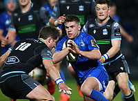 28th February 2020; RDS Arena, Dublin, Leinster, Ireland; Guinness Pro 14 Rugby, Leinster versus Glasgow; Luke McGrath (Leinster) prepares to be tackled by Peter Horne (Glasgow Warriors)
