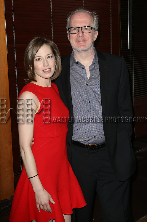 Carrie Coon and Tracy Letts  attend the Broadway Opening Night Performance After Party for 'The Realistic Joneses'  at the The Red Eye Grill on April 6, 2014 in New York City.