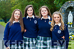 Sarah Jane Kirby, Emma O'Keeffe, Kate Lynch and Roisin Moriarty, students from Presentation Secondary School, Tralee, who attended their graduation Mass in St. John's Church, Tralee, on Friday evening last.