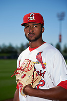 Springfield Cardinals pitcher Sandy Alcantara (22) poses for a photo before a game against the Corpus Christi Hooks on May 30, 2017 at Hammons Field in Springfield, Missouri.  Springfield defeated Corpus Christi 4-3.  (Mike Janes/Four Seam Images)