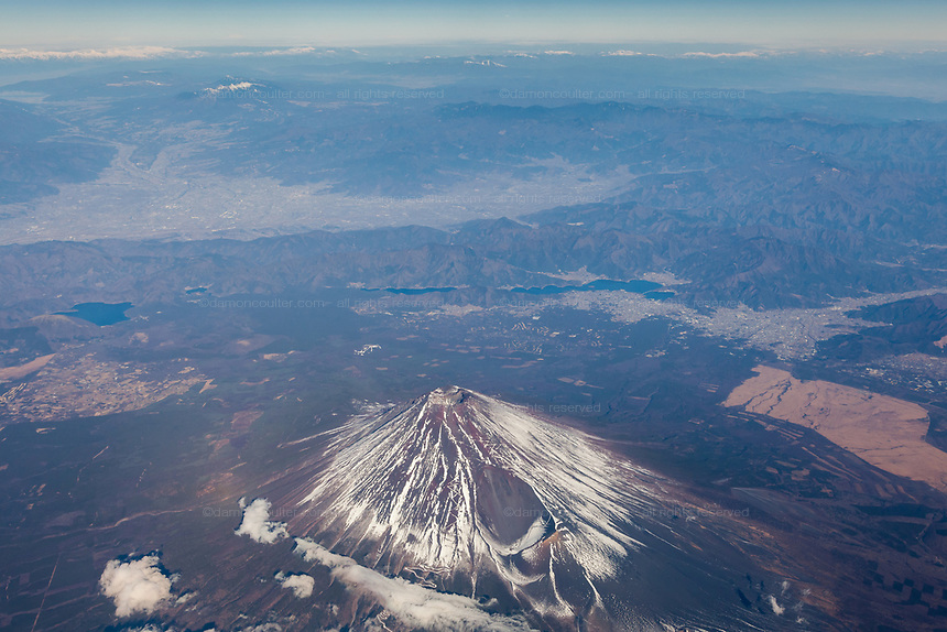 Mount Fuji. from above. Yamanashi, Japan. Friday, December 22nd 2017