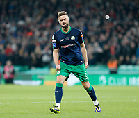 3rd November 2019; Aviva Stadium, Dublin, Leinster, Ireland; FAI Cup Final Football, Dundalk Football Club versus Shamrock Rovers; Greg Bolger celebrates scoring his penalty for Shamrock Rovers in the after-game penalty shoot-out - Editorial Use