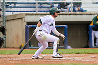 Beloit Snappers outfielder Jack Meggs (23) at bat during a Midwest League game against the Quad Cities River Bandits on May 20, 2018 at Pohlman Field in Beloit, Wisconsin. Beloit defeated Quad Cities 3-2. (Brad Krause/Four Seam Images)