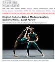 English National Ballet, Modern Masters, Sadler's Wells, Evening Standard 11.03.15