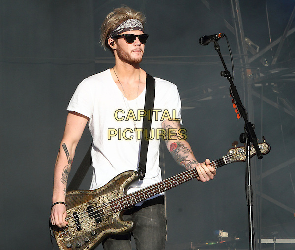 BIRMINGHAM, UNITED KINGDOM - AUGUST 31: Lawson - Ryan Fletcher performs during day 2 of Fusion Festival 2014 on August 31, 2014 in Birmingham, England.<br /> CAP/ROS<br /> &copy;Steve Ross/Capital Pictures