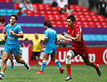 Islam Shakirov, Day 1 at Hong Kong Stadium, HSBC World Rugby Sevens Series, Hong Kong Sevens 2019 - Photo Martin Seras Lima