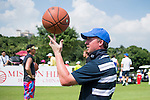 Robbie Fowler plays with a basketball during the World Celebrity Pro-Am 2016 Mission Hills China Golf Tournament on 23 October 2016, in Haikou, Hainan province, China. Photo by Marcio Machado / Power Sport Images