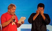PA - CONVENCAO/PMDB/LULA - POLITICA - ATENCAO, EDITOR: FOTO EMBARGADA PARA VEICULOS DO ESTADO DO PARA. O ex-presidente Luiz Inácio Lula da Silva e Candidato Governo para Helder Barbalho participam de convenção do PMDB do Para, em Belem, nesta segunda- feira.<br />  <br /> Foto: TARSO SARRAF