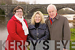 Cara Tarant, Manager Seanchai Centre, Mary Stack North & East Kerry Development Officer and Jimmy Deenihan, executive producer who will be launching their new DVD about the River Feale, pictured here last Monday in Listowel.