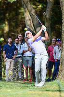 Gary Woodland  (USA) hits his approach shot on 6 during round 2 of the World Golf Championships, Mexico, Club De Golf Chapultepec, Mexico City, Mexico. 3/3/2017.<br /> Picture: Golffile | Ken Murray<br /> <br /> <br /> All photo usage must carry mandatory copyright credit (&copy; Golffile | Ken Murray)