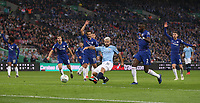 Manchester City's Sergio Aguero scores but the goal was disallowed for offside<br /> <br /> Photographer Rob Newell/CameraSport<br /> <br /> The Carabao Cup Final - Chelsea v Manchester City - Sunday 24th February 2019 - Wembley Stadium - London<br />  <br /> World Copyright © 2018 CameraSport. All rights reserved. 43 Linden Ave. Countesthorpe. Leicester. England. LE8 5PG - Tel: +44 (0) 116 277 4147 - admin@camerasport.com - www.camerasport.com