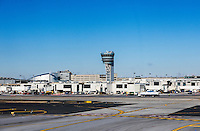 Terminal and control tower at Philadelphia airport, Pennsylvania, USA