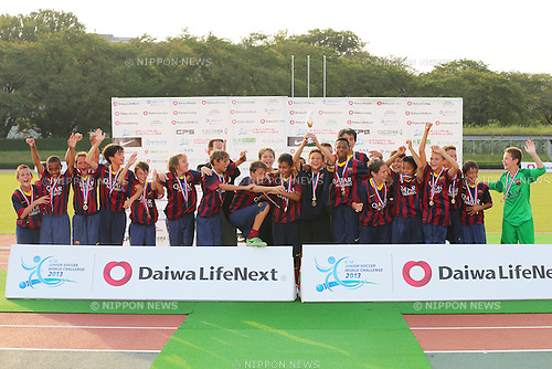 FC Barcelona Team Group (Barcelona), <br /> August 30, 2013 - Football / Soccer : <br /> U-12 Junior Soccer World Challenge 2013, Victory Ceremony <br /> between FC Barcelona 5-0 Liverpool FC <br /> at Ajinomoto Stadium West Ground, Tokyo, Japan. <br /> (Photo by Daiju Kitamura/AFLO SPORT) [1045]