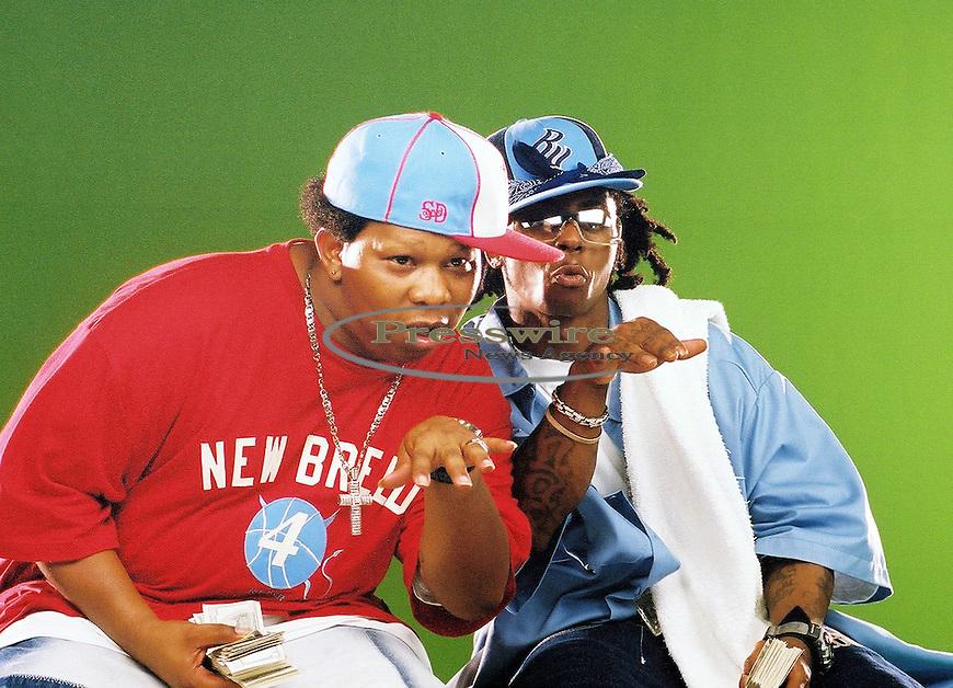 Mannie Fresh & Lil Wayne in New Orleans, Louisiana on August 8, 2003.  Photo credit: Elgin Edmonds / Presswire News