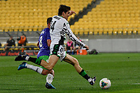Max Burgess of Western United FC during the A League - Wellington Phoenix v Western United FC at Sky Stadium, Wellington, New Zealand on Friday 21 February 2020. <br /> Photo by Masanori Udagawa. <br /> www.photowellington.photoshelter.com