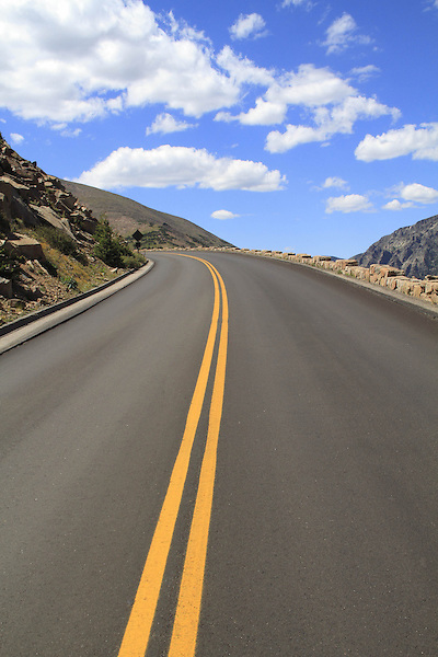 Trail Ridge Road in Rocky Mountain National Park, west of Estes Park, Colorado, USA