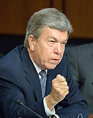 """United States Senator Roy Blunt (Republican of Missouri) questions US Attorney General Jeff Sessions during testimony before the US Senate Select Committee on Intelligence to  """"examine certain intelligence matters relating to the 2016 United States election"""" on Capitol Hill in Washington, DC on Tuesday, June 13, 2017.  In his prepared statement Attorney General Sessions said it was an """"appalling and detestable lie"""" to accuse him of colluding with the Russians.<br /> Credit: Ron Sachs / CNP<br /> (RESTRICTION: NO New York or New Jersey Newspapers or newspapers within a 75 mile radius of New York City)"""