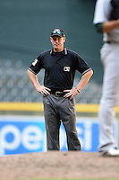 Umpire James Rackley during an Instructional League game between the Oakland Athletics and Arizona Diamondbacks on October 10, 2014 at Chase Field in Phoenix, Arizona.  (Mike Janes/Four Seam Images)