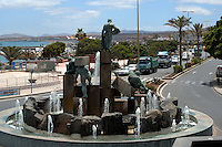 Statues on roundabout next to Puerto del Rosario harbour, Fuerteventura, Canary Islands