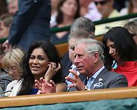 LONDRES, INGLATERRA, 27 JUNHO 2012 - TORNEIO DE WIMBLEDON - Principe Chales durante torneio de Wimbledon, em Londres, Inglaterra, nesta quarta-feira, 27. (FOTO: PIXATHLON / BRAZIL PHOTO PRESS).