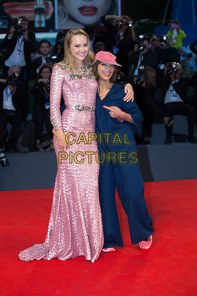 Suki Waterhouse, Ana Lily Amirpour at the premiere of The Bad Batch at the 2016 Venice Film Festival.<br /> September 6, 2016  Venice, Italy<br /> CAP/KA<br /> &copy;Kristina Afanasyeva/Capital Pictures