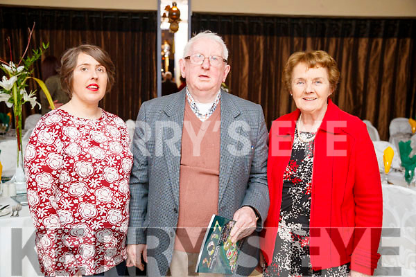 Helena, Jim and Mary Wrenn, Churchill, attending the Kerry Supporters Social at Ballygarry House Hotel and Spa, Tralee, on Saturday night last.
