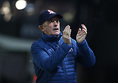 5th February 2019, Rodney Parade, Newport, Wales; FA Cup football, 4th round replay, Newport County versus Middlesbrough; Tony Pulis, Manager of Middlesbrough applauds fans before the game