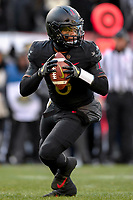PHILADELPHIA, PA - DEC 8, 2018: Army Black Knights quarterback Kelvin Hopkins Jr. (8) rolls out of the pocket during game between Army and Navy at Lincoln Financial Field in Philadelphia, PA. Army defeated Navy 17-10 to win the Commander in Chief Cup. (Photo by Phil Peters/Media Images International)