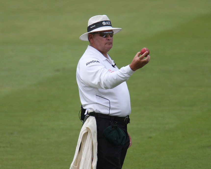 Umpire M.Erasmus looking at the ball  3rd day of the 2nd Investec Ashes Test Match at Lord's Cricket Ground, London - 20/07/13 - MANDATORY CREDIT: Kieran Galvin / CameraSport<br /> <br /> &copy; CameraSport - 43 Linden Ave. Countesthorpe. Leicester. England. LE8 5PG - Tel: +44 (0) 116 277 4147 - admin@camerasport.com - www.camerasport.com