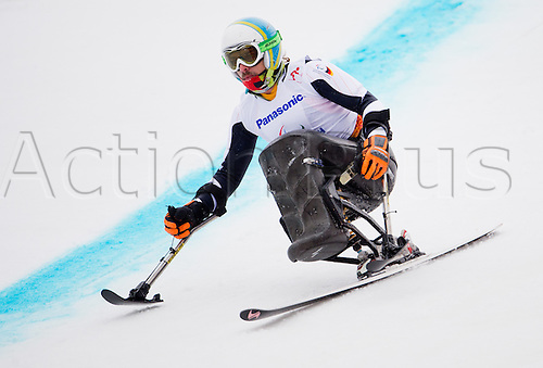 14.03.2014. Sochi, Russia.  Thomas Nolte of Germany competes in the Men's Super G - Sitting of the Super Combined in Rosa Khutor Alpine Center at the Sochi 2014 Paralympic Winter Games, Krasnaya Polyana, Russia, 14 March 2014.