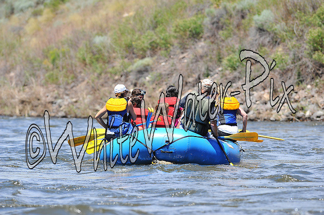 Nova Guides crashing Cable Rapid while floating the Upper Colorado River from Rancho Del Rio to State Bridge on the morning of July 5, 2014.