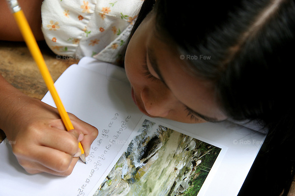 Children are also taught writing and storytelling skills.