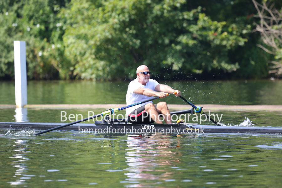 Race: 40  MasH.1x  Quarter-Final<br /> 202  Rio Salado Rowing Club, Arizona, USA (Abelson)<br /> <br /> Henley Masters Regatta 2018 - Friday<br /> <br /> To purchase this photo, or to see pricing information for Prints and Downloads, click the blue 'Add to Cart' button at the top-right of the page.
