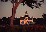 Point Pinos Lighthouse at sunset