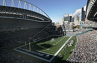 Seattle Seahawks host the Carolina Panthers on Oct. 31, 2004 at Qwest Field in Seattle.
