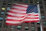 American flag, New York, USA