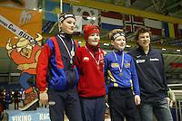 SCHAATSEN: HEERENVEEN: IJsstadion Thialf, 04-03-2005, VikingRace, Thomas Krol (NED), Sverre Lunde Pedersen (NOR), Igor Pieters (NED), Sven Kramer, ©foto Martin de Jong
