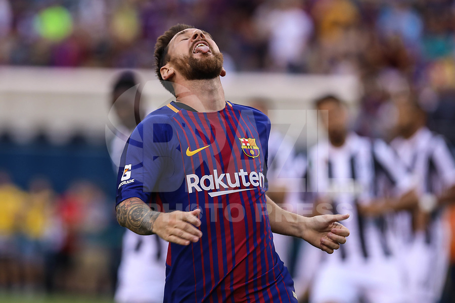 EAST RUTHERFORD, USA, 22.07.2017 - JUVENTUS-BARCELONA - Lionel Messi do Barcelona durante partida contra Juventus valido pela International Champions Cup 2017 no MetLife Stadium na cidade de East Rutherford, New Jersey. (Foto: Vanessa Carvalho/Brazil Photo Press)