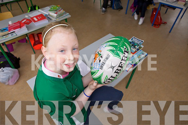 Rebecca O'Reilly from Ballincrossig national school was all excited last week to go back and tell her teachers and friends about being a mascot at the