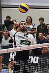 13.10.2018,  Lueneburg GER, VBL, SVG Lueneburg vs United Volleys Rhein-Main im Bild Einzelaktion Hochformat Michel Schlien (Lueneburg #14) / Foto © nordphoto / Witke