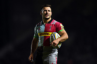 Danny Care of Harlequins looks on during a break in play. Aviva Premiership match, between Harlequins and Sale Sharks on October 6, 2017 at the Twickenham Stoop in London, England. Photo by: Patrick Khachfe / JMP