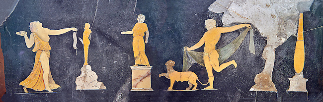 Opus Sectile Roman of a Dionysian scene, Pompeii, inv 9979 , Naples National Archaeological Museum