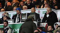 (L-R) John Mitchell, England Defence Coach, Eddie Jones, England Head Coach, and Steve Borthwick, England Forwards Coach, during the Quilter International match between England and Australia at Twickenham Stadium on Saturday 24th November 2018 (Photo by Rob Munro/Stewart Communications)