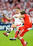 Jacek Krzynowek and Christoph Leitgeb at Euro 2008 Austria-Poland 06122008, Wien, Austria